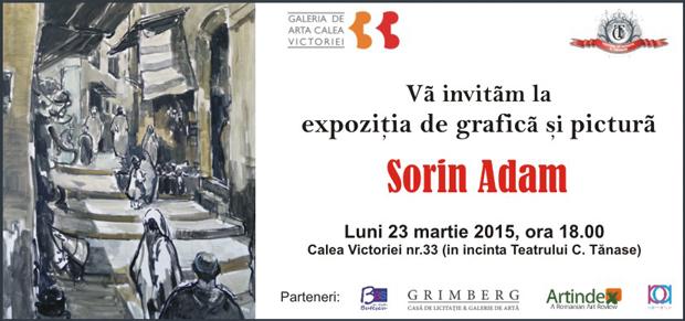 Expozitie de grafică și pictură Sorin Adam la București