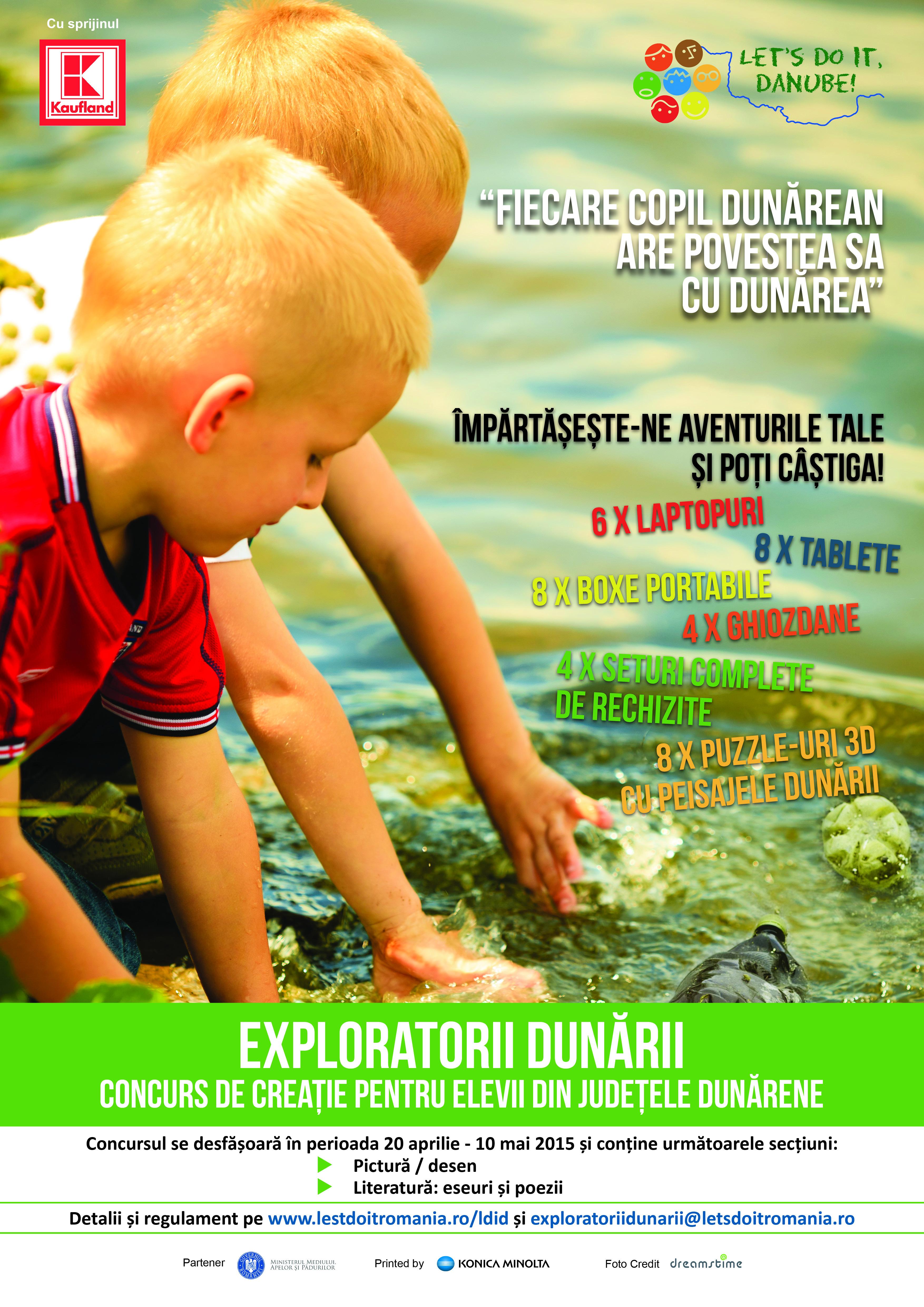 """""""Let's Do It, Danube!"""" organizează concursul de creație """"Exploratorii Dunării"""""""
