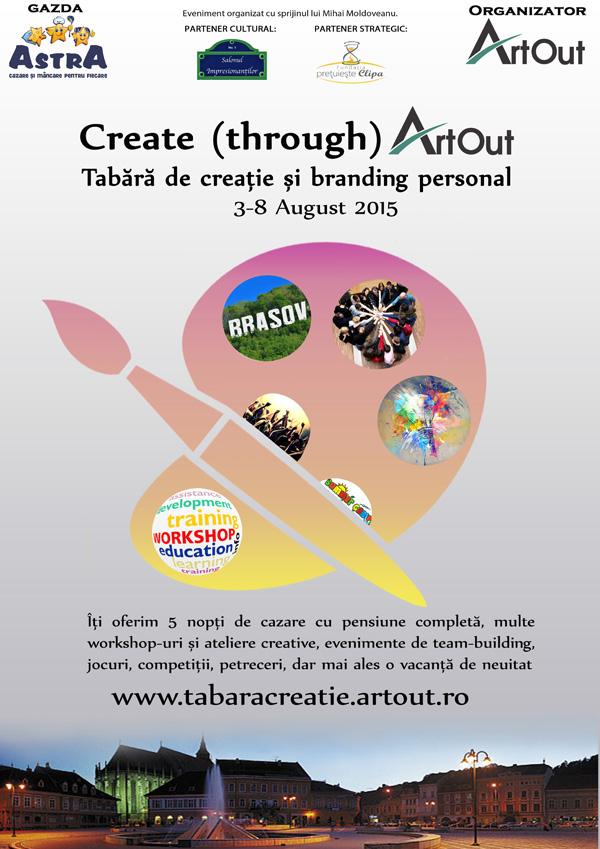 Înscrie-te în tabăra de creație și branding personal Create through Art Out
