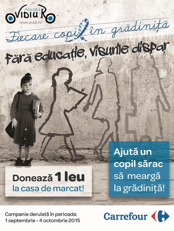 OvidiuRo și Carrefour: aducem împreună Fiecare Copil în Grădiniță