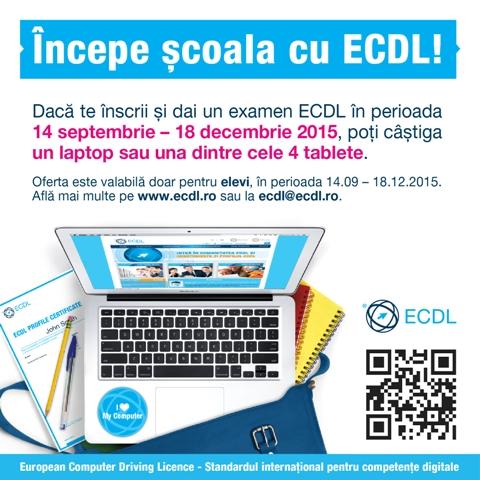 Începe școala cu ECDL!
