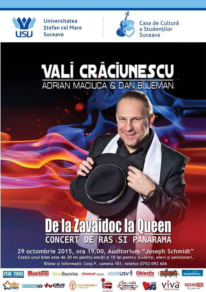 """Concert cu Vali Crăciunescu, Adrian Maciuca și Dan Blueman la Universitatea """"Ștefan cel Mare"""""""