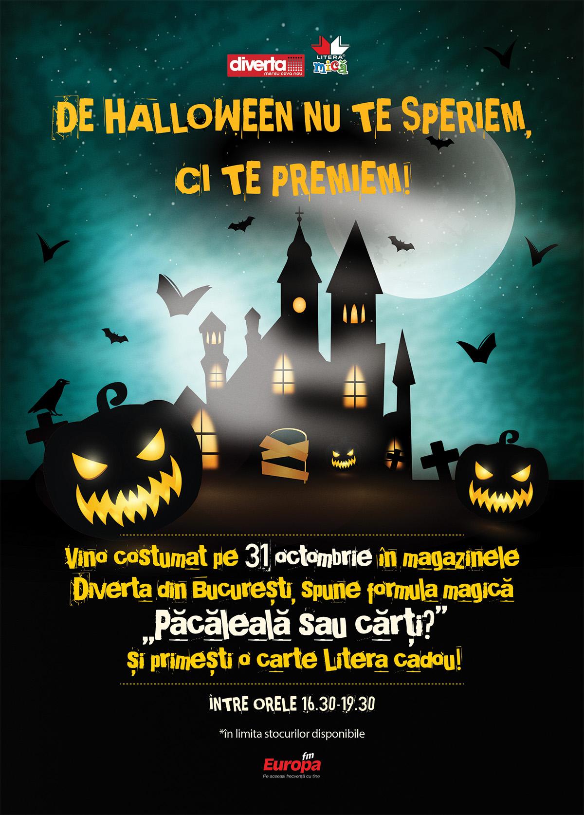 Păcăleală sau cărți? Editura Litera te invită la Diverta de Halloween