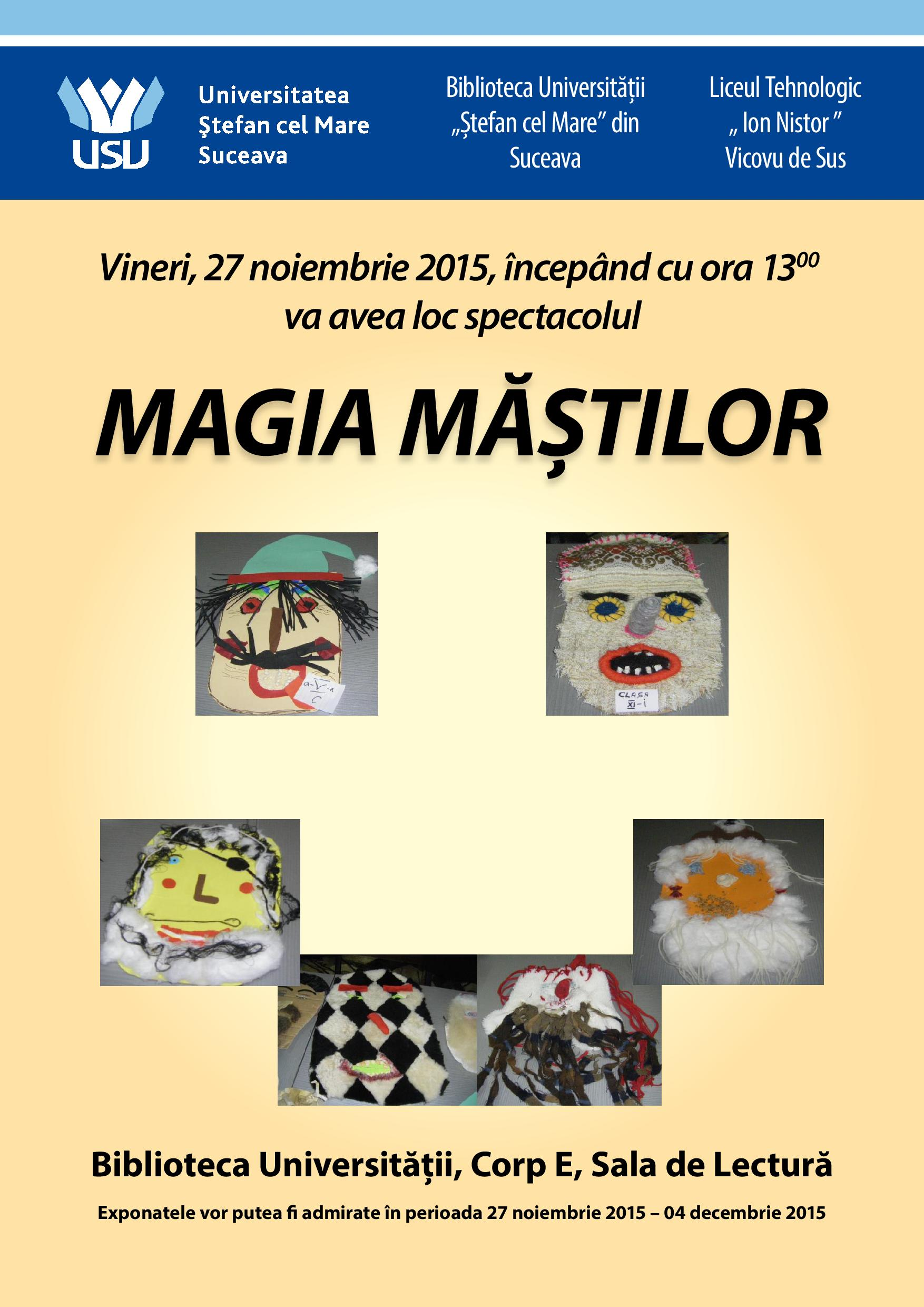 "Magia Măștilor – eveniment la Universitatea ""Ștefan cel Mare"""