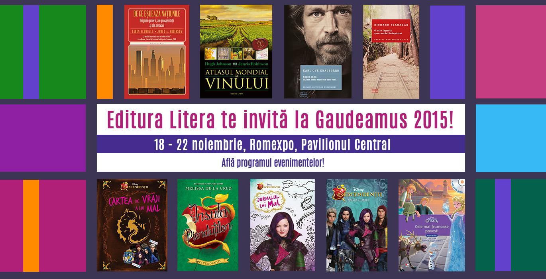 Editura Litera își așteaptă cititorii la Gaudeamus 2015