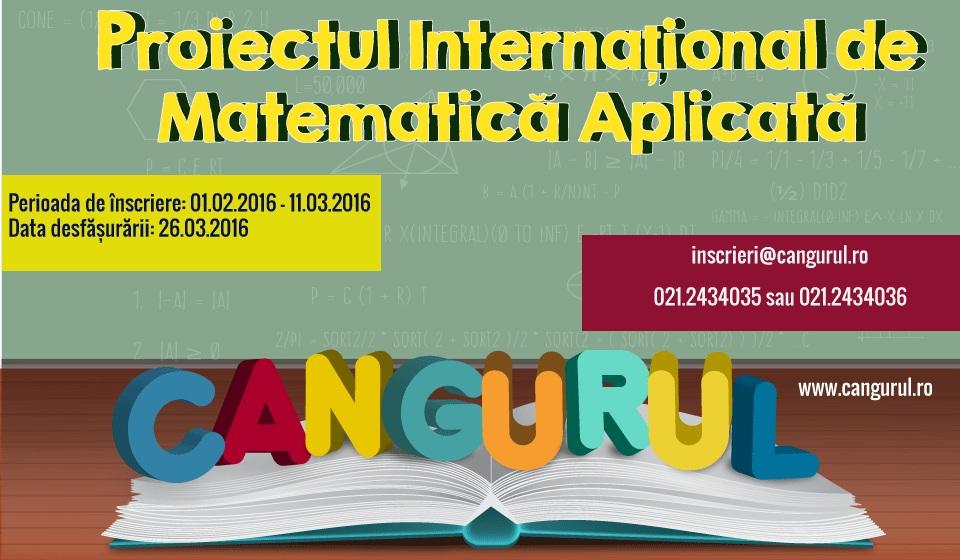 Înscrieți-vă la Proiectul Internațional de Matematică Aplicată Cangurul!