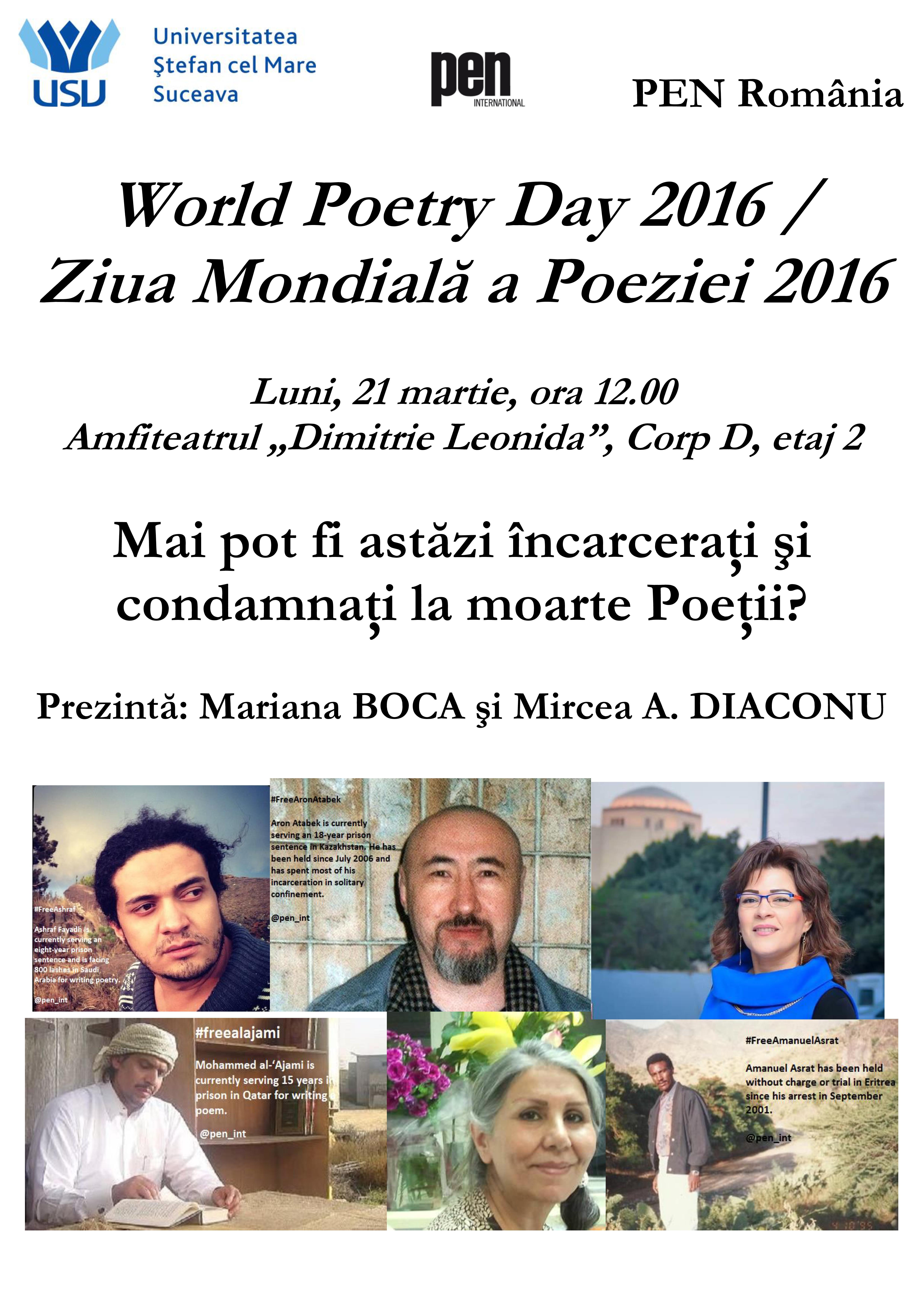"""Ziua Mondială a Poeziei la Universitatea """"Ștefan cel Mare"""""""