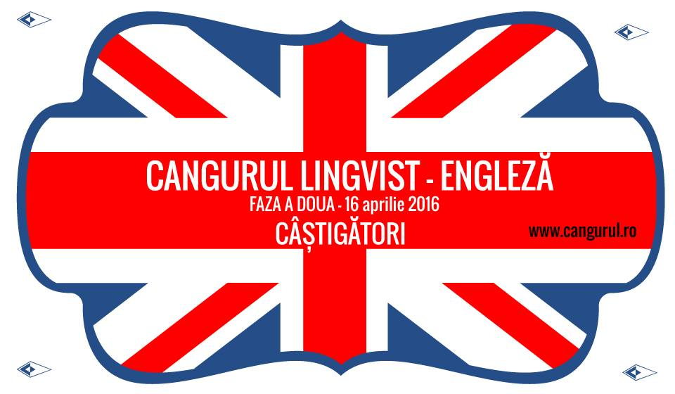 82 de elevi din toată țara cu rezultate extraordinare la faza a doua a Cangurului Lingvist-Engleză au fost premiați cu excursii și sejururi în Europa, locuri gratuite în Tabara Internațională Cangurul de la Arefu și pachete de cărți