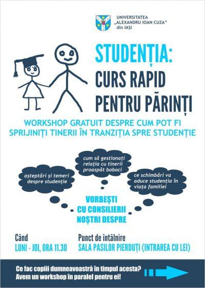 Curs rapid de studenție, dedicat părinților