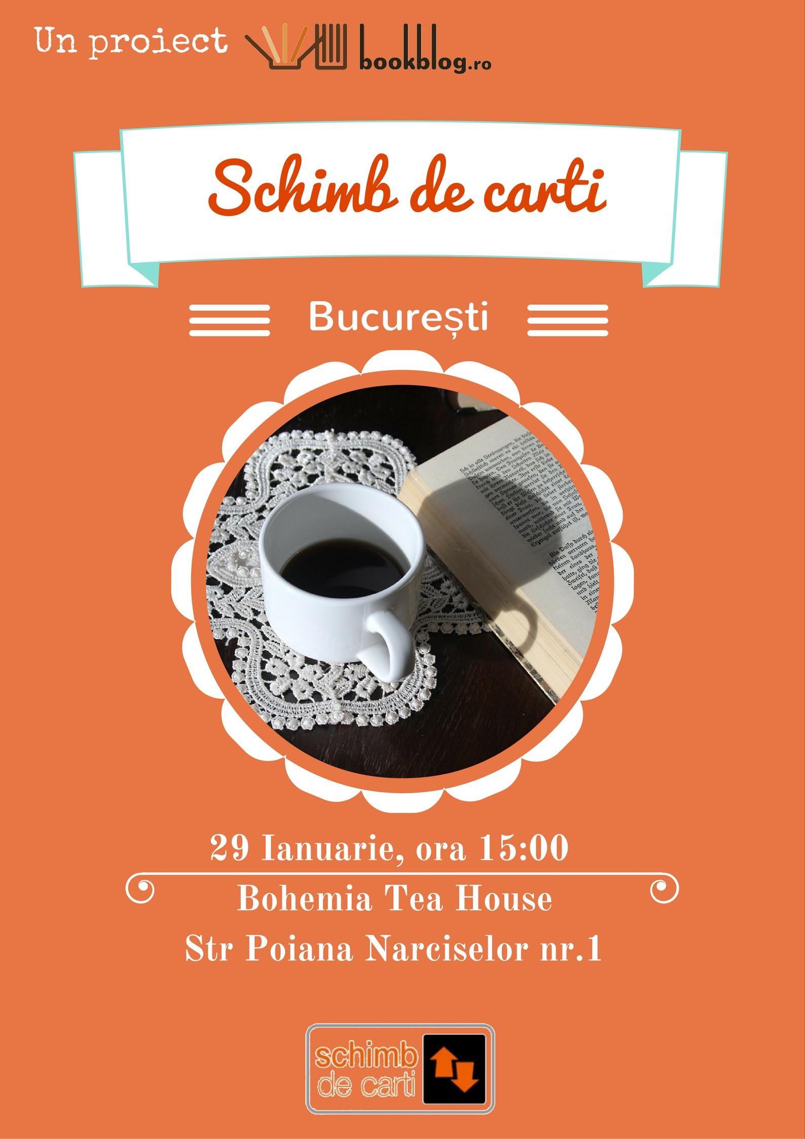 Schimb de Cărți București. Întâlnirea lunii Ianuarie