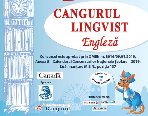 Au inceput inscrierile la Cangurul Lingvist – Engleza