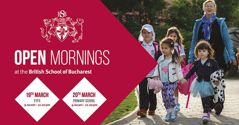 Vino la Ziua Portilor Deschise la British School of Bucharest