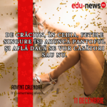 Edu-news.ro Advent Calendar – It's something elves! (11 Decembrie)